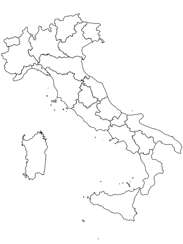 coloring page Map of Italy