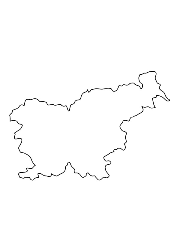coloring page Map of Slovenia