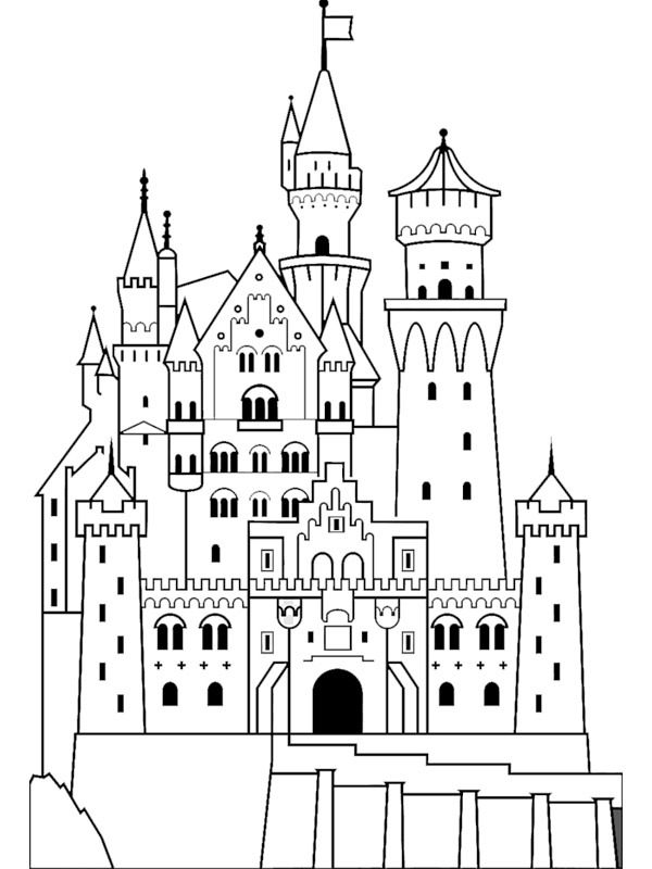 coloring page Castle Neuschwanstein (germany)