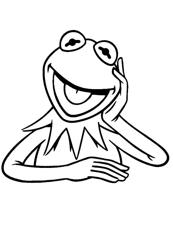 coloring page Kermit the Frog