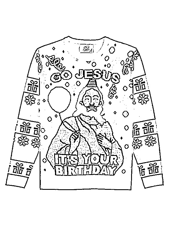 coloring page Christmas Sweater