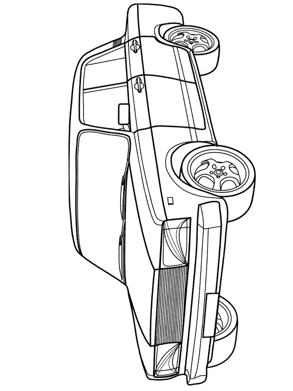 coloring page Lada 2107