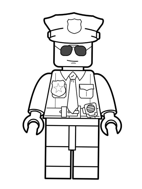 coloring page Lego Police Officer