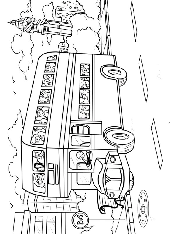 coloring page london bus