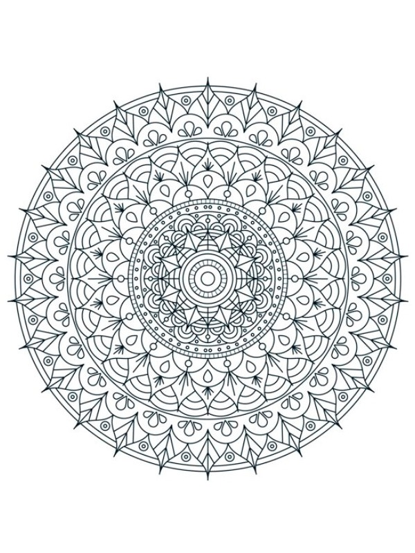 coloring page Mandala for adults