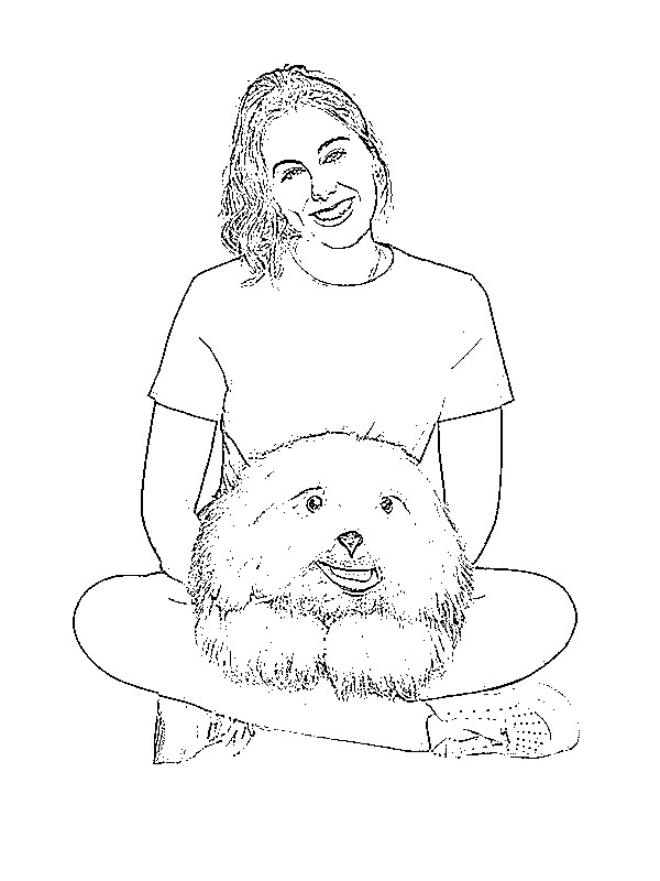 coloring page Marie and Samson