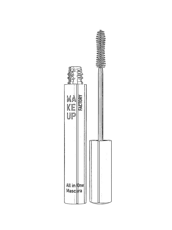 coloring page Mascara tube