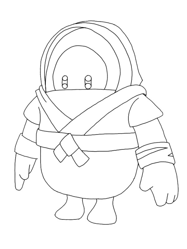 coloring page Master Ninja Fall Guys