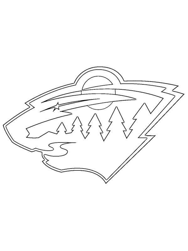 coloring page Minnesota Wild