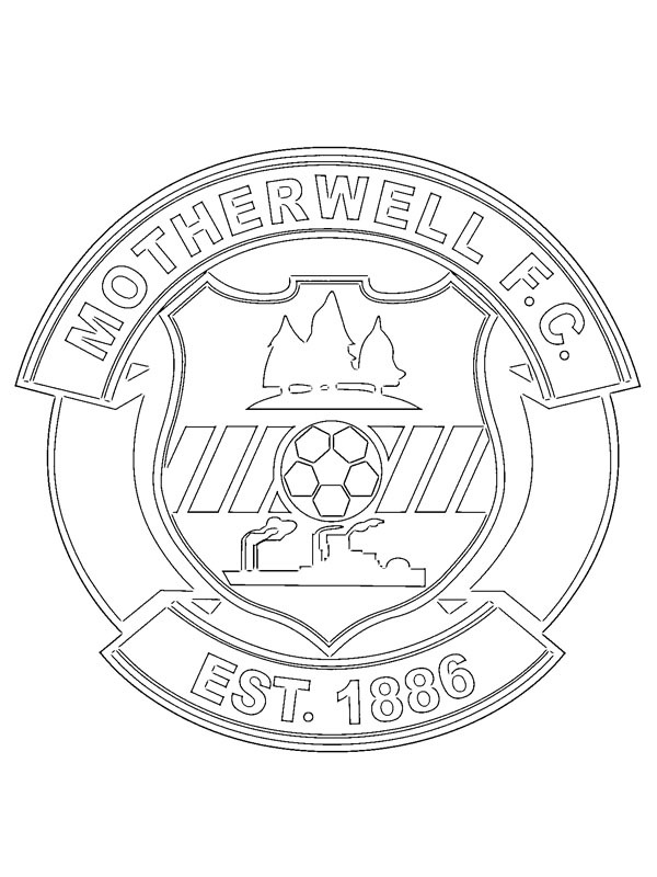 coloring page Motherwell FC