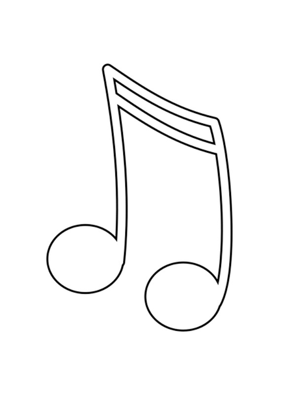 coloring page Music note
