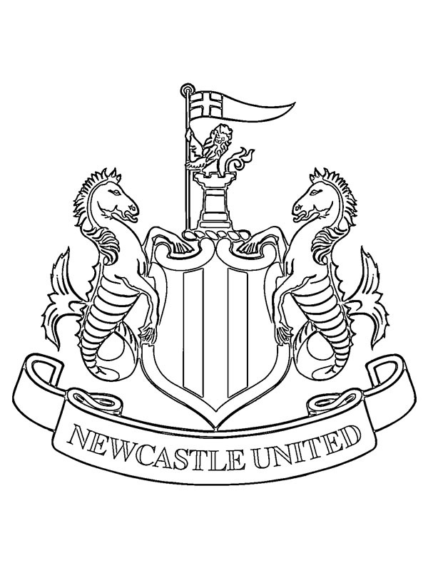 coloring page Newcastle United FC