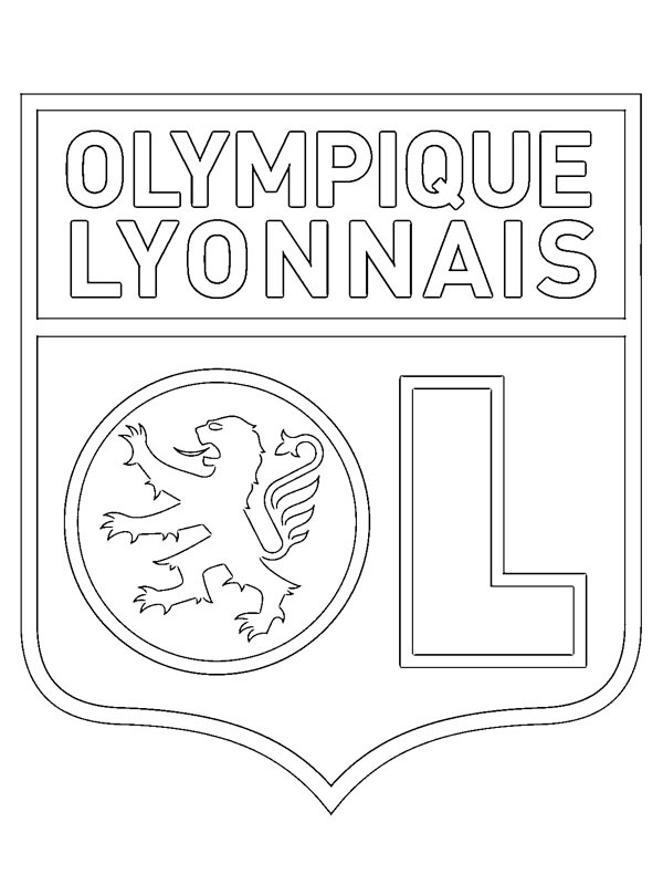 coloring page Olympique Lyonnais