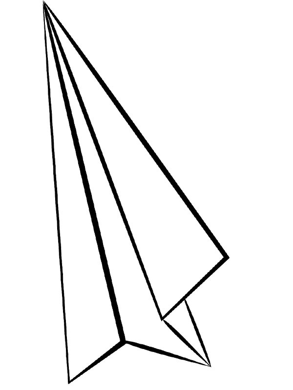 coloring page paperplane