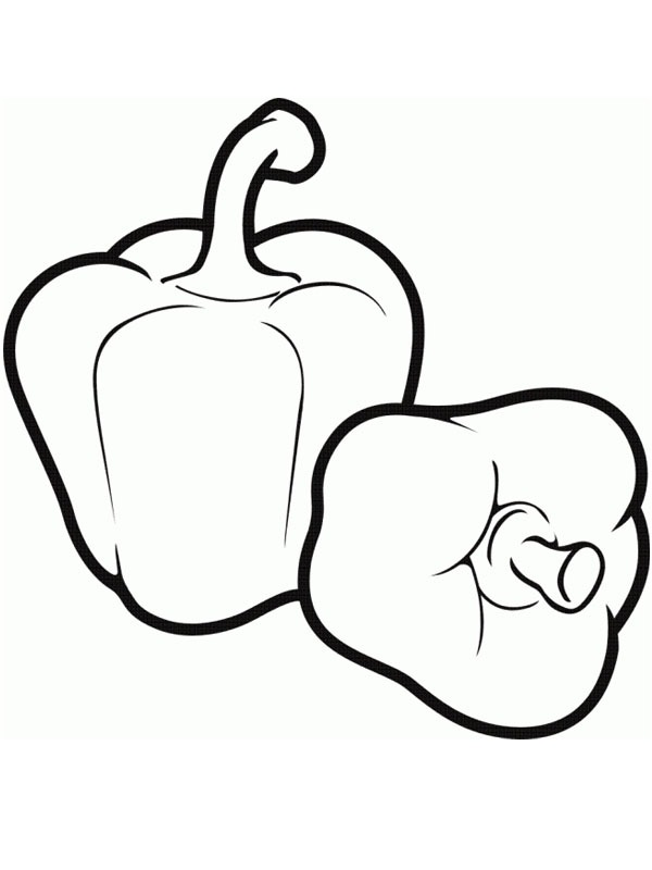 coloring page Bell pepper