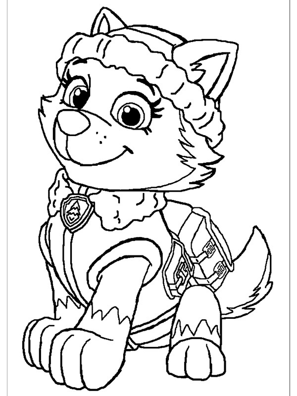 coloring page Paw Patrol Everest