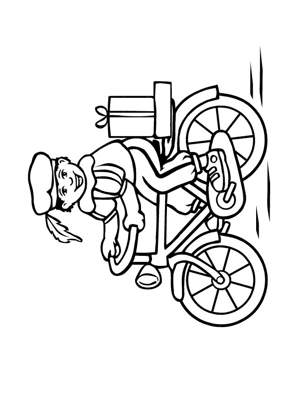 coloring page pete on the bike