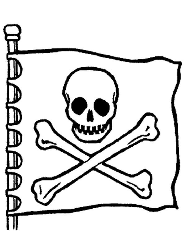 coloring page Pirateflag