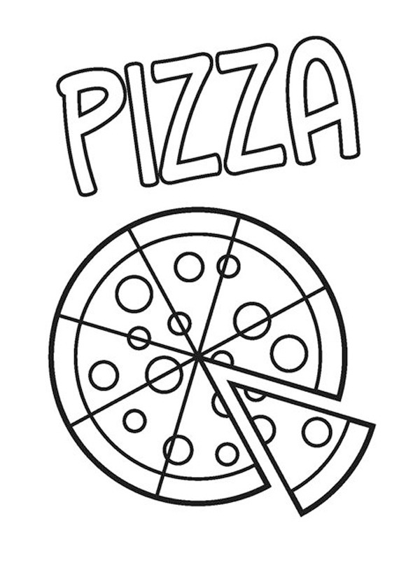 coloring page Pizza