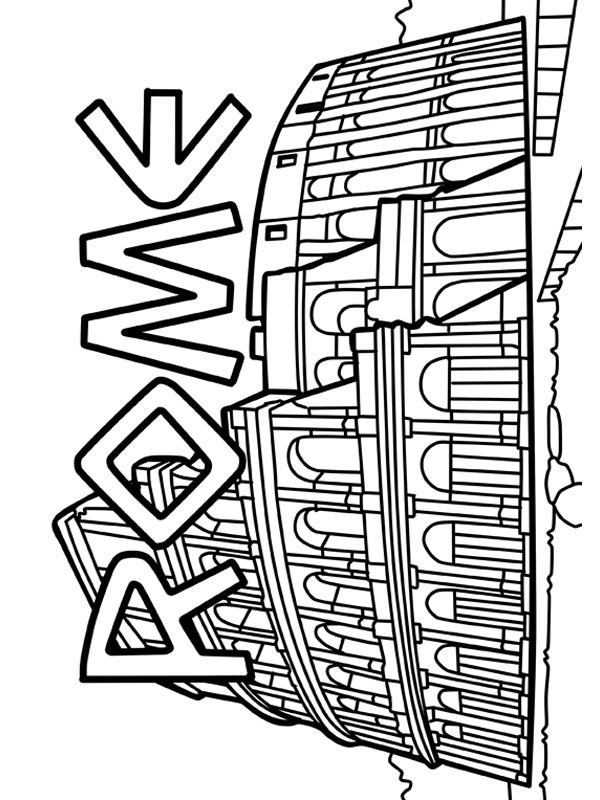 coloring page Colosseum rome