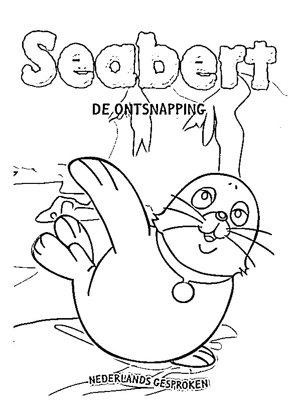 coloring page seabert the escape