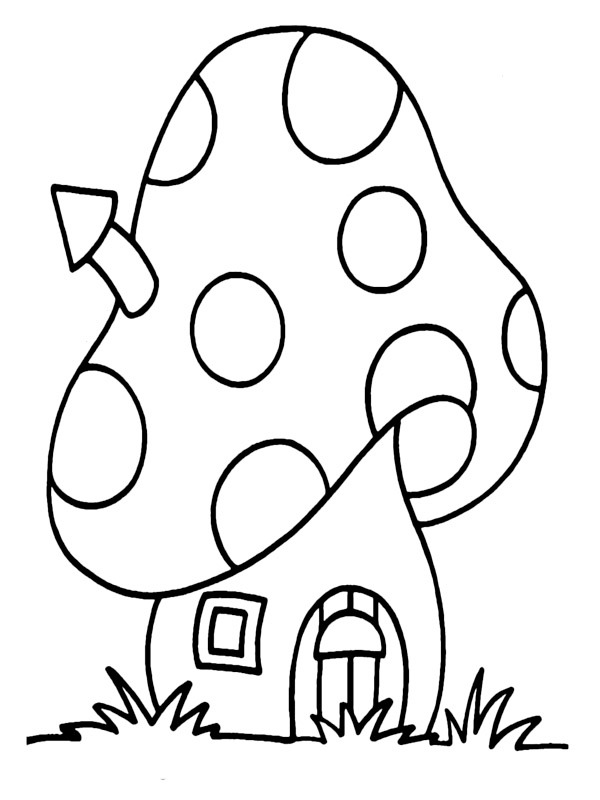 coloring page Smurf house