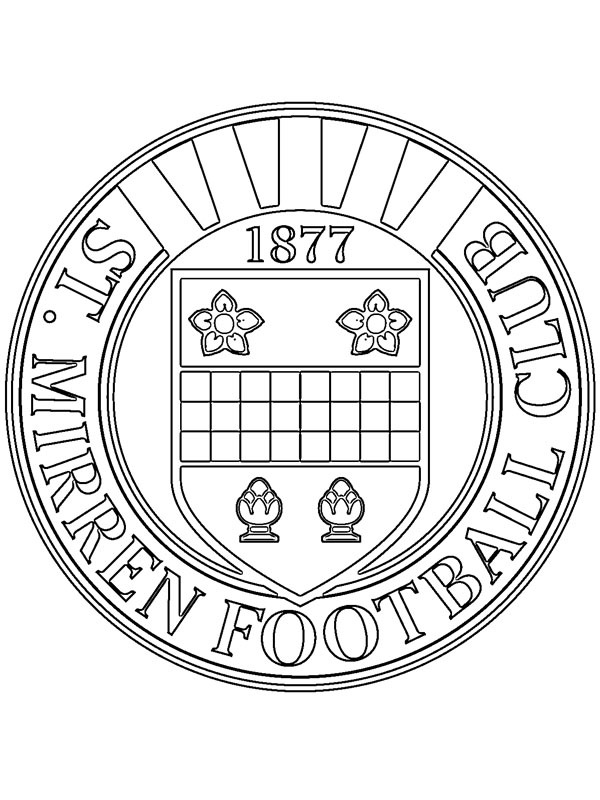 coloring page St Mirren Football Club