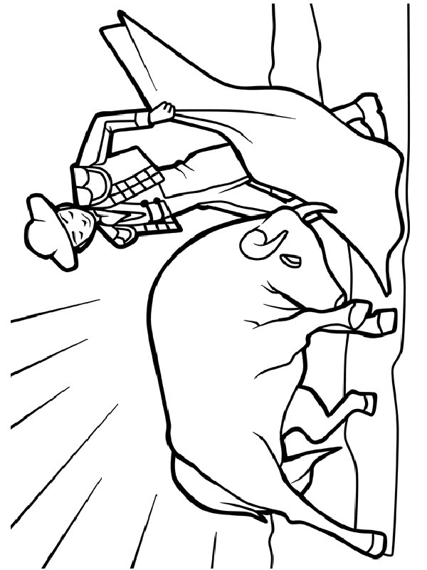 coloring page Bullfighting