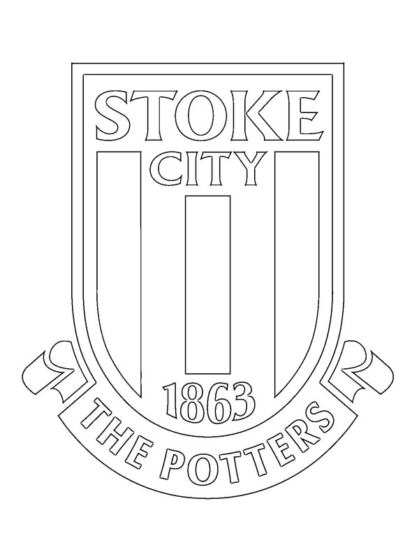 coloring page Stoke City FC