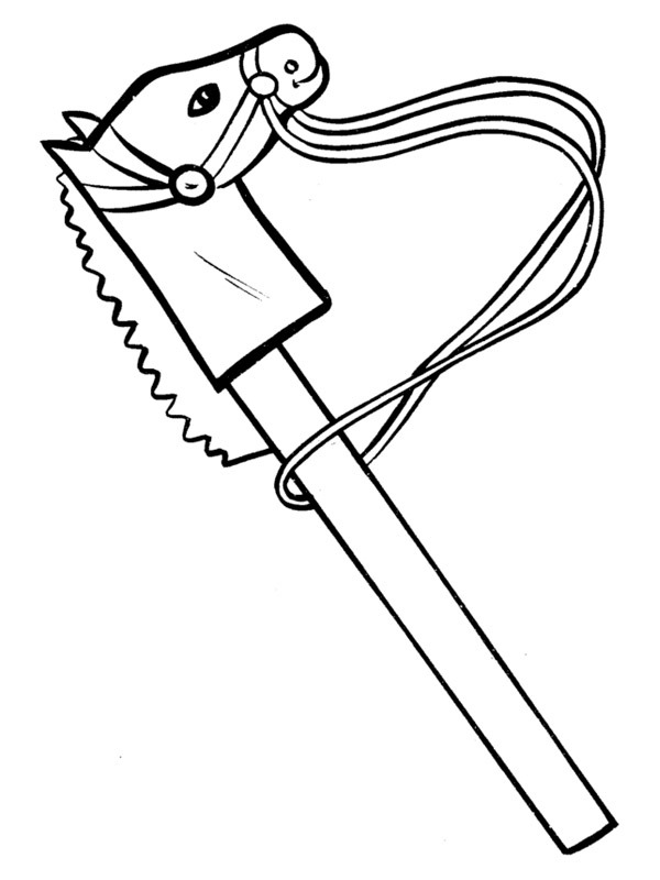 coloring page hobby horse
