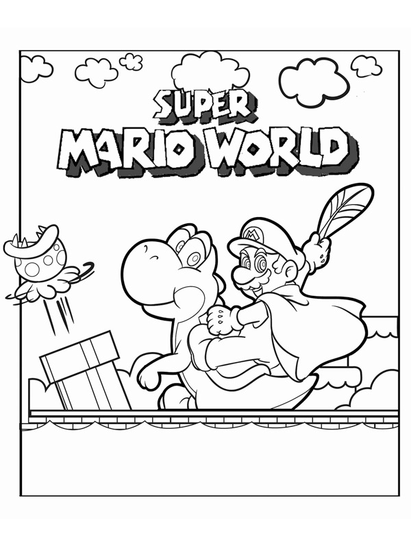 coloring page Super Mario World