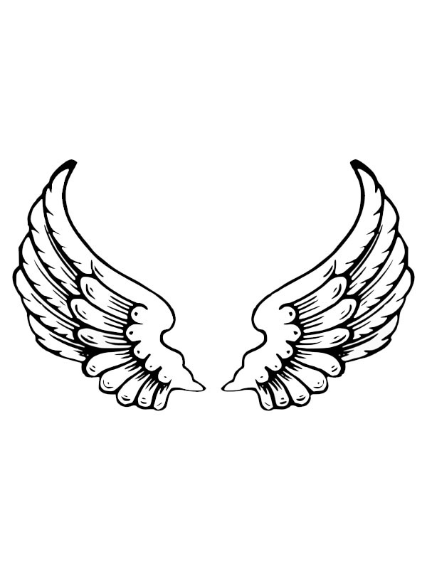 coloring page tattoo angel wings