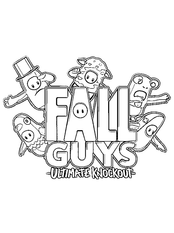 coloring page Team Fall Guys