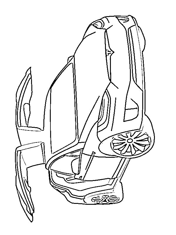coloring page Tesla Model X