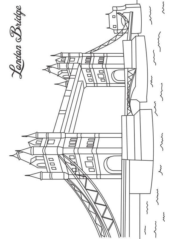 coloring page Tower Bridge London