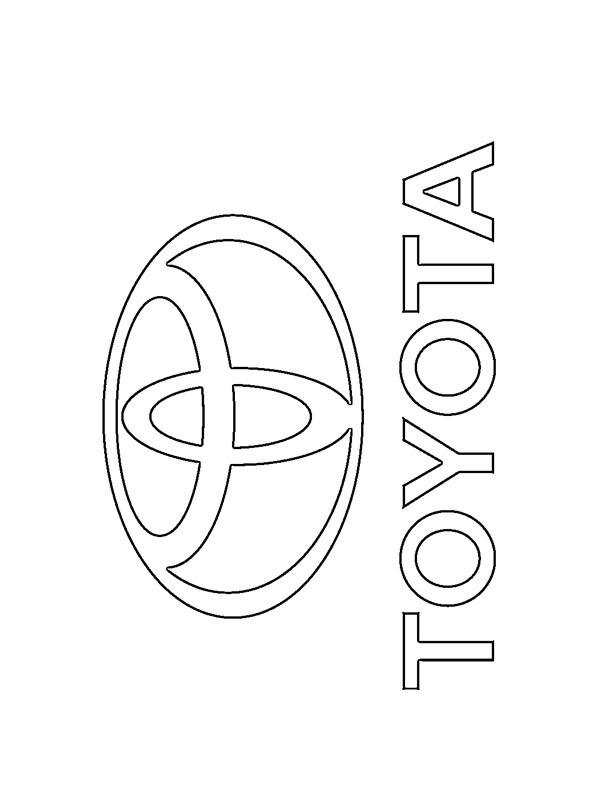 coloring page Toyota logo