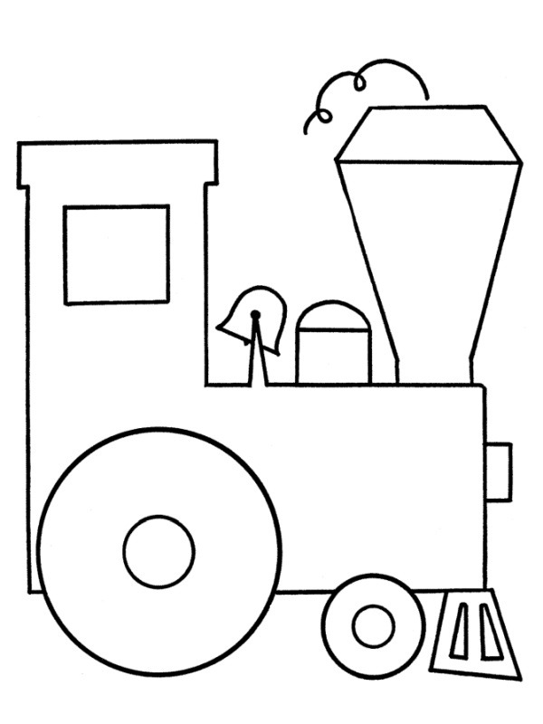 coloring page Simple train