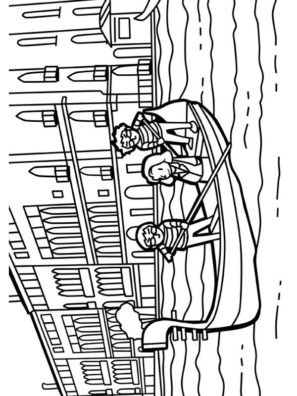 coloring page Venice