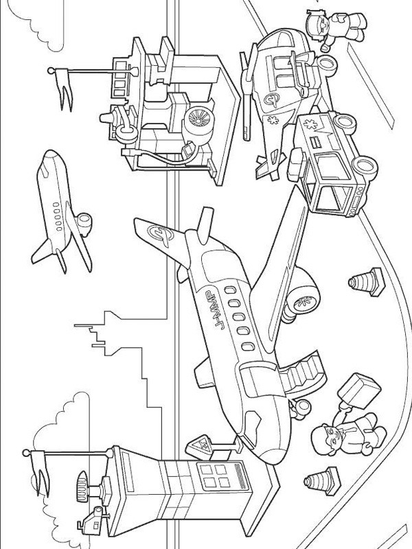 coloring page Lego Airport