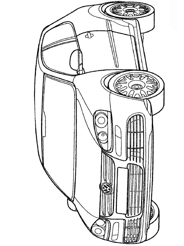 coloring page Volkswagen Golf