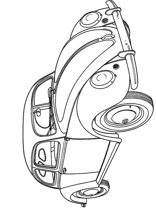 coloring page Volkswagon beatle