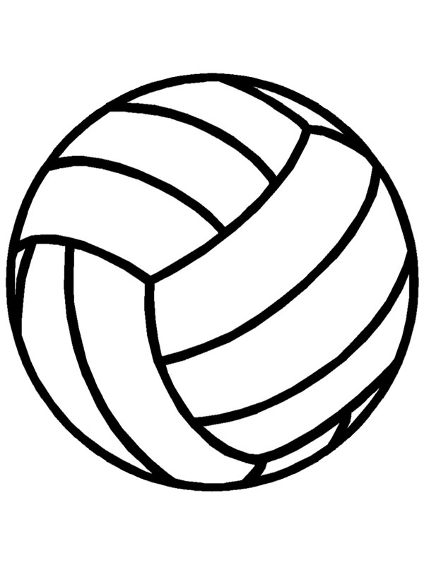 coloring page Volleyball Ball