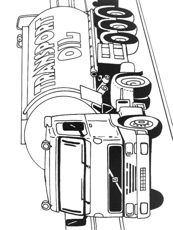 coloring page volvo tank wagon