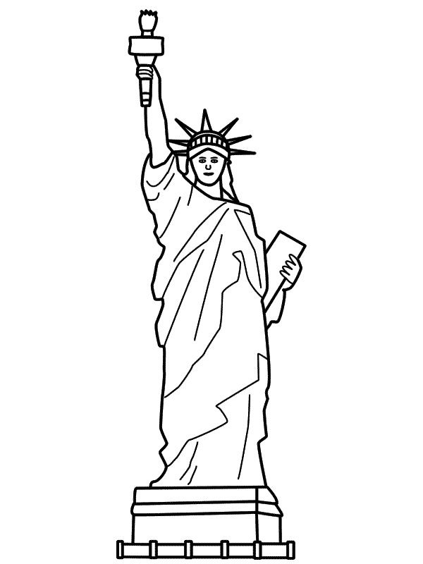 coloring page Statue of liberty