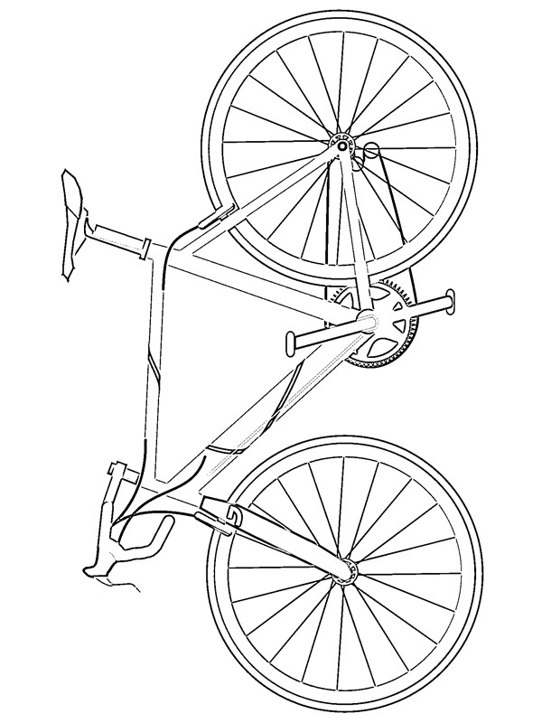 coloring page Road bike