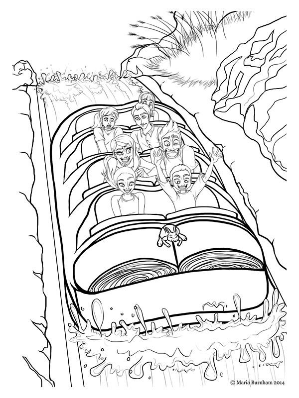 coloring page Wildwater rafting