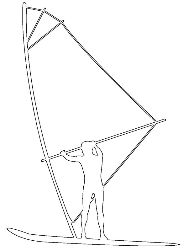 coloring page Windsurfing