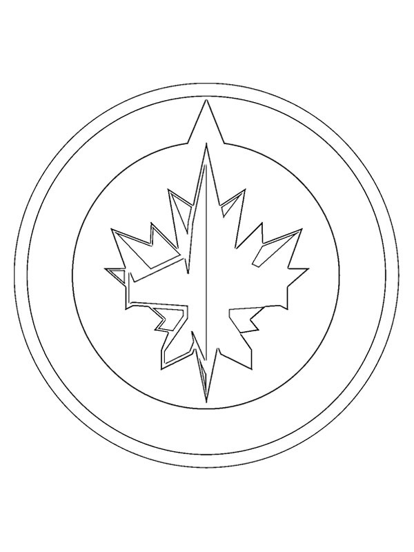 coloring page Winnipeg Jets