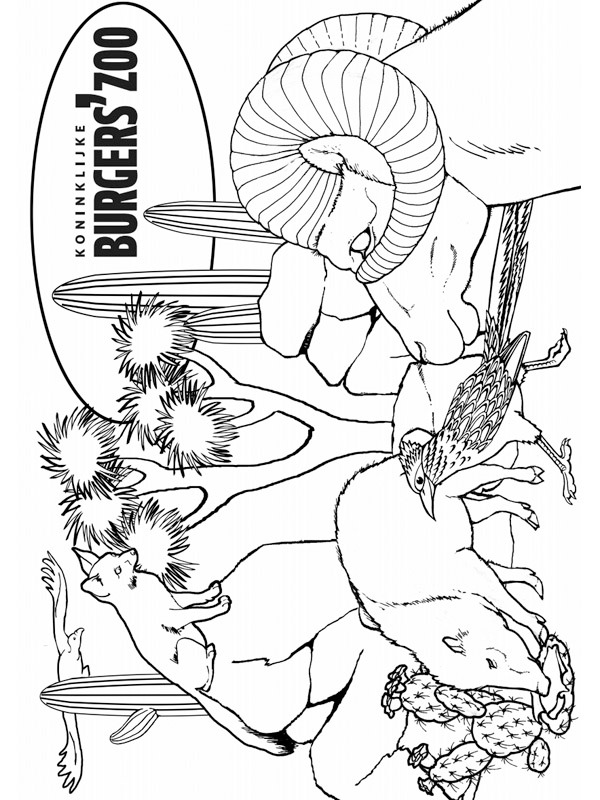 coloring page Dessert Burgers Zoo