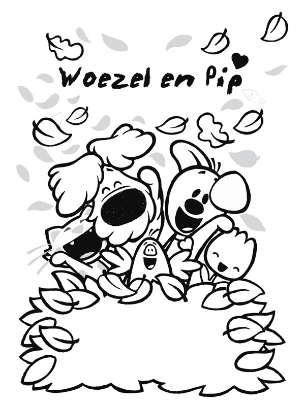 coloring page Woozle and pip